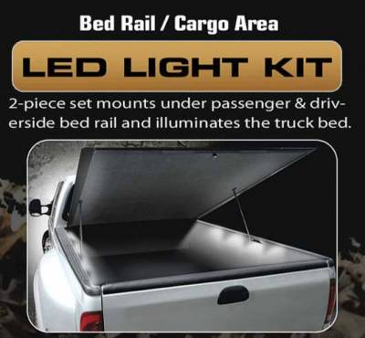 Headlights & Tail Lights - Third Brake Lights - Recon - Recon 4 Foot Bed Rail Cargo Area LED Light Kit - 26417