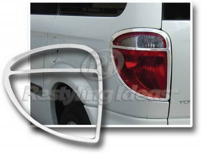 Headlights & Tail Lights - Tail Light Covers - Restyling Ideas - Dodge Caravan Restyling Ideas Taillight Bezel - Chrome - 26812