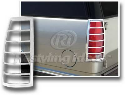 Headlights & Tail Lights - Tail Light Covers - Restyling Ideas - Chevrolet Tahoe Restyling Ideas Taillight Bezel - Chrome - 26825