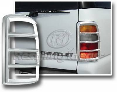 Headlights & Tail Lights - Tail Light Covers - Restyling Ideas - Chevrolet Tahoe Restyling Ideas Taillight Bezel - Chrome - 26827