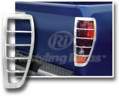 Headlights & Tail Lights - Tail Light Covers - Restyling Ideas - Chevrolet Silverado Restyling Ideas Chrome Taillight Bezel - 26831
