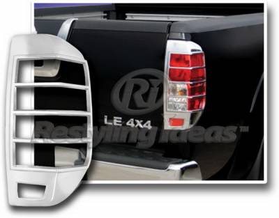 Headlights & Tail Lights - Tail Light Covers - Restyling Ideas - Nissan Frontier Restyling Ideas Taillight Bezel - Chrome - 26844