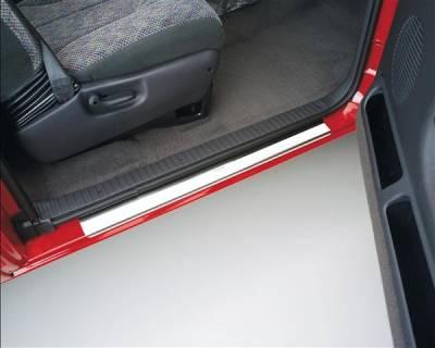 Car Parts - Door Sills - Putco - Chevrolet Silverado Putco Stainless Steel Door Sills - 95112