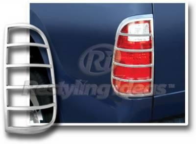 Headlights & Tail Lights - Tail Light Covers - Restyling Ideas - Ford F250 Restyling Ideas Taillight Bezel - Chrome - 26872