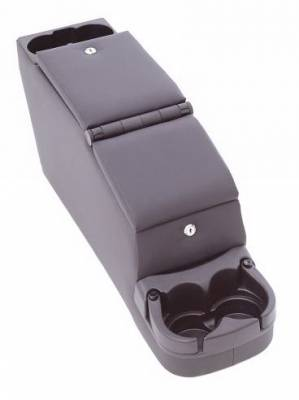 Car Interior - Arm Rests - Rampage - Jeep Wrangler Rampage Deluxe Locking Center Console - Grey - 31611