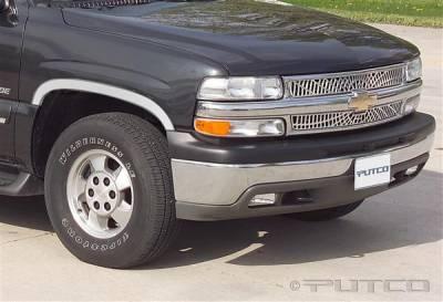 Suburban - Fender Flares - Putco - Chevrolet Suburban Putco Stainless Steel Fender Trim - Half - 97101