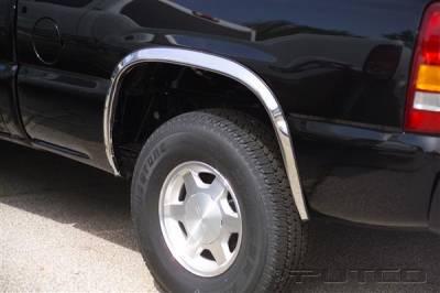 Suburban - Fender Flares - Putco - Chevrolet Suburban Putco Stainless Steel Fender Trim - Full - 97105