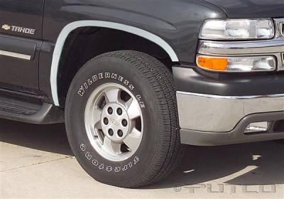 Tahoe - Fender Flares - Putco - Chevrolet Tahoe Putco Stainless Steel Fender Trim - Full - 97108
