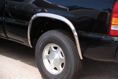 Escalade - Fender Flares - Putco - Cadillac Escalade Putco Stainless Steel Fender Trim - Full - 97119