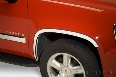 Tahoe - Fender Flares - Putco - Chevrolet Tahoe Putco Stainless Steel Fender Trim - Full - 97158