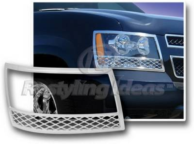Headlights & Tail Lights - Headlight Covers - Restyling Ideas - Chevrolet Avalanche Restyling Ideas Headlight Trim - 62805