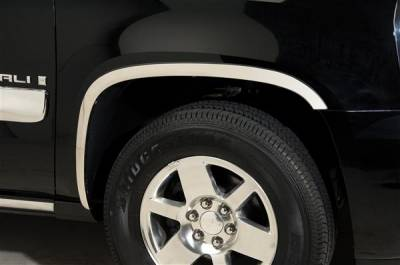 Avalanche - Fender Flares - Putco - Chevrolet Avalanche Putco Stainless Steel Fender Trim - Full - 97176