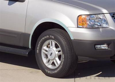 Expedition - Fender Flares - Putco - Ford Expedition Putco Stainless Steel Fender Trim - Full - 97209