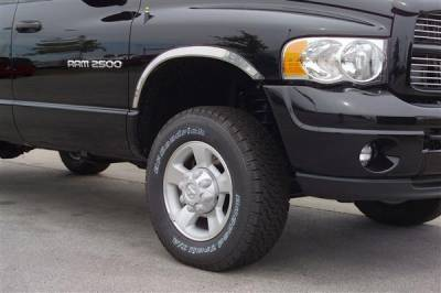 Dakota - Fender Flares - Putco - Dodge Dakota Putco Stainless Steel Fender Trim - Full - 97307