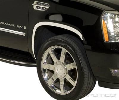 Escalade - Fender Flares - Putco - Cadillac Escalade Putco Stainless Steel Fender Trim - Full - 97321