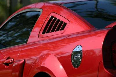 Silverhorse Racing - Ford Mustang Silverhorse Racing Flush-Mount Quarter Window Louvers - 66300