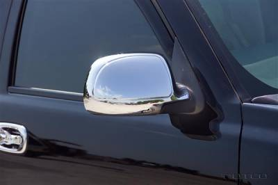 Denali - Mirrors - Putco - GMC Denali Putco Deluxe Mirror Overlays - 400006