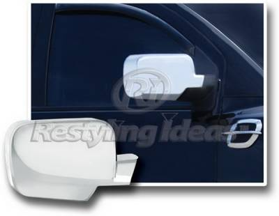Titan - Mirrors - Restyling Ideas - Nissan Titan Restyling Ideas Mirror Cover - Chrome ABS - 67307
