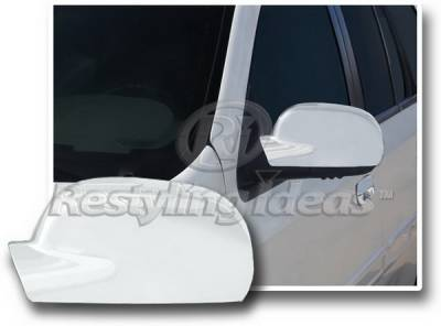 Envoy - Mirrors - Restyling Ideas - GMC Envoy Restyling Ideas Mirror Cover - Chrome ABS - 67309