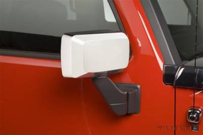 H3 - Mirrors - Putco - Hummer H3 Putco Mirror Overlays - 400027