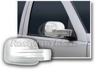 Liberty - Mirrors - Restyling Ideas - Jeep Liberty Restyling Ideas Mirror Cover - Chrome ABS - 67318