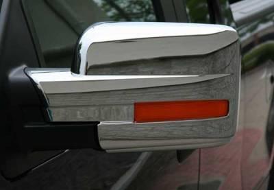 F150 - Mirrors - Putco - Ford F150 Putco Mirror Overlays with Reflector - 400502