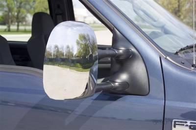 F250 - Mirrors - Putco - Ford F250 Superduty Putco Mirror Overlays - 401114
