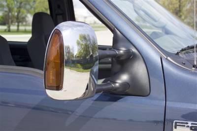 F250 - Mirrors - Putco - Ford F250 Superduty Putco Mirror Overlays - 401127