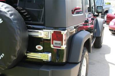 Wrangler - Rear Add On - Putco - Jeep Wrangler Putco Chrome Rear Hinge Cover - 401266