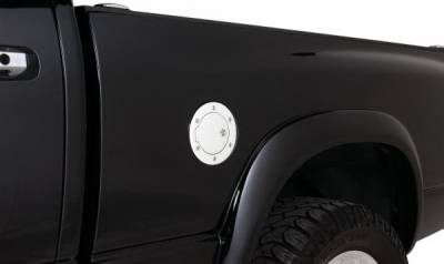SUV Truck Accessories - Gas Caps - Rampage - Dodge Ram Rampage Billet Style Gas Cover - Polished Billet - Locking Door Design with Keys - 85015