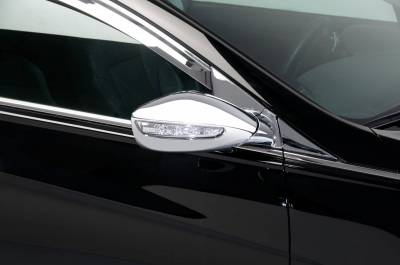 Sonata - Mirrors - Putco - Hyundai Sonata Putco Mirror Overlays with LED opening - 401752