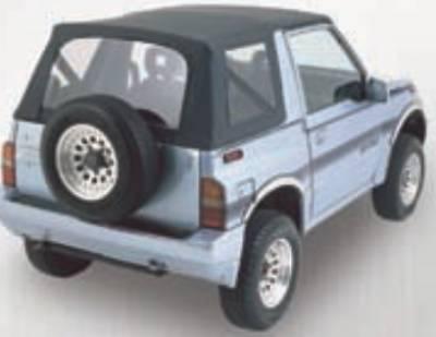 SUV Truck Accessories - Soft Tops - Rampage - Suzuki SideKick Rampage California Brief - Black Denim - 91115