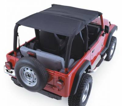 Suv Truck Accessories - Soft Tops - Rampage - Jeep Wrangler Rampage Header Island Topper - Denim Black - 93615