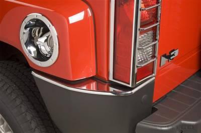 H3 - Rear Add On - Putco - Hummer H3 Putco Chrome Rear Bumper Trim - 402314