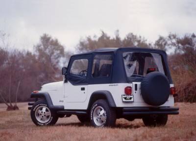 SUV Truck Accessories - Soft Tops - Rampage - Suzuki SideKick Rampage Soft Top - OEM Replacement - Denim Black - 98815
