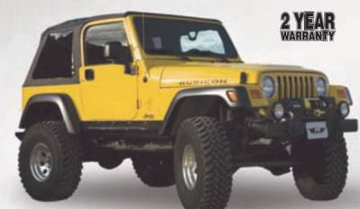 Ragtops Sunroofs - OEM - Rampage - Jeep Wrangler Rampage Frameless Soft Top Kit - 109635