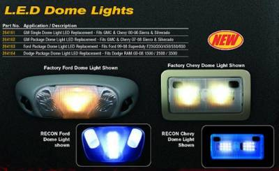 Car Interior - Dome Lights - Recon - Chevrolet Silverado Recon Dome Light Set LED Replacement - 264162