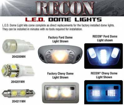 Car Interior - Dome Lights - Recon - Ford Mustang Recon LED Dome Lights - 264166