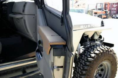 Car Interior - Arm Rests - Rampage - Jeep Wrangler Rampage Arm Rest - Half Doors - Black Denim - 595615