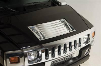 H2 - Body Kit Accessories - Putco - Hummer H2 Putco Chrome Hood Deck Vent - 403406