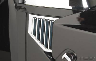 H2 - Body Kit Accessories - Putco - Hummer H2 Putco Chrome Hood Side Vents - 403408