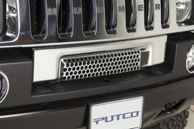 H2 - Body Kit Accessories - Putco - Hummer H2 Putco Chrome Trim Bumper Vent Strip - 404202