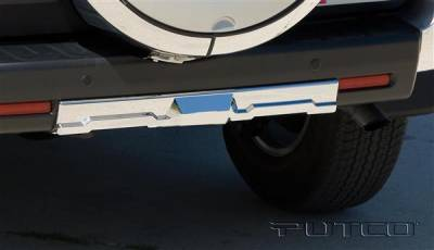 FJ Cruiser - Rear Add On - Putco - Toyota FJ Cruiser Putco Chrome Rear Apron Cover without Hitch - 404220