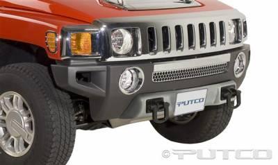 H3 - Front Bumper - Putco - Hummer H3 Putco Chrome Front Apron Cover - 404316