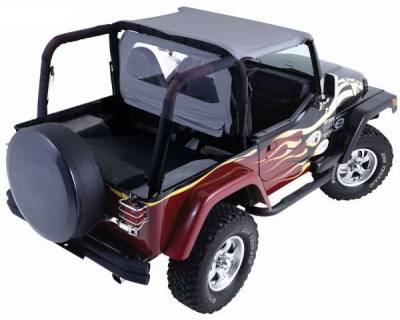 SUV Truck Accessories - Roll Bar Accessories - Rampage - Jeep CJ Rampage Roll Bar Pad & Cover Kit - Denim Black - 768715