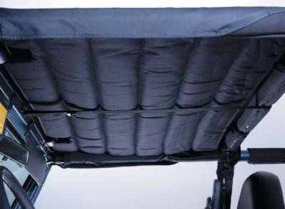 SUV Truck Accessories - Soft Tops - Rampage - Jeep CJ Rampage Acoustic Brief - Denim Gray - 890811
