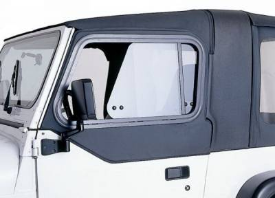 Wrangler - Doors - Rampage - Jeep Wrangler Rampage Rear Door Top Sliders - Diamond Black - 919435