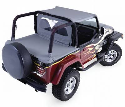 Suv Truck Accessories - Soft Tops - Rampage - Jeep Wrangler Rampage Cab Top - Denim Gray - 993011