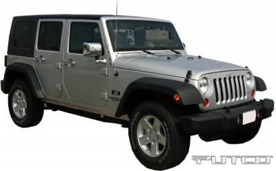 Wrangler - Body Kit Accessories - Putco - Jeep Wrangler Putco Exterior Chrome Accessory Kit - 405414