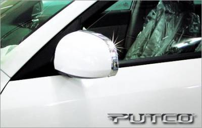 Sonata - Mirrors - Putco - Hyundai Sonata Putco Mirror Overlays with Stainless Steel Trim - 408601